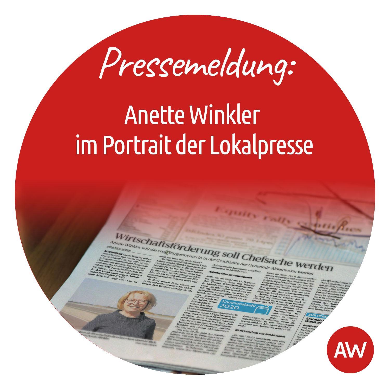 Pressemeldung: Anette Winkler im Portrait der Lokalpresse
